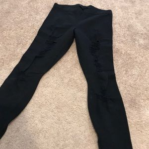 Joe's jeans destroyed leggings.